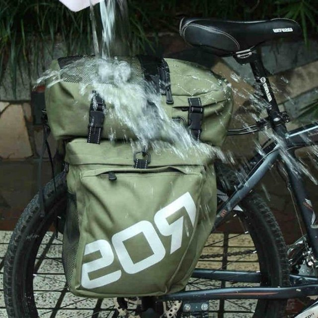 ROSWHEEL Bike Bags 37L MTB Mountain Bike Rack Bag 3 in 1 Multifunction Road Bicycle Pannier Rear Seat Trunk Bag