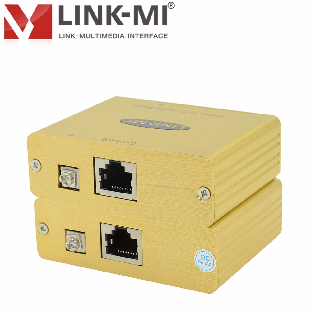 LINK-MI LM-SHFB Analog Stereo Hi-Fi Audio Balun Extender Up to 3250ft/1000m Over Cat5e/6 UTP Cable point-to-point connection