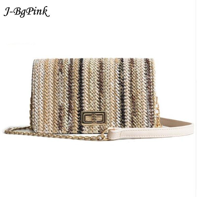 J-Bg Pink brand luxury handbags women bags designer weaved straw bag women crossbody bags for women 2018 shoulder bag women