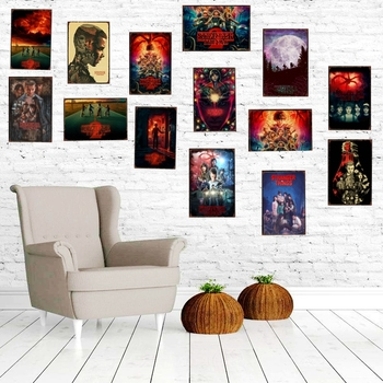 Stranger Things-cartel de estaño de Alien, Vintage, Placas Decorativas, pared, Pub, cafetería,...