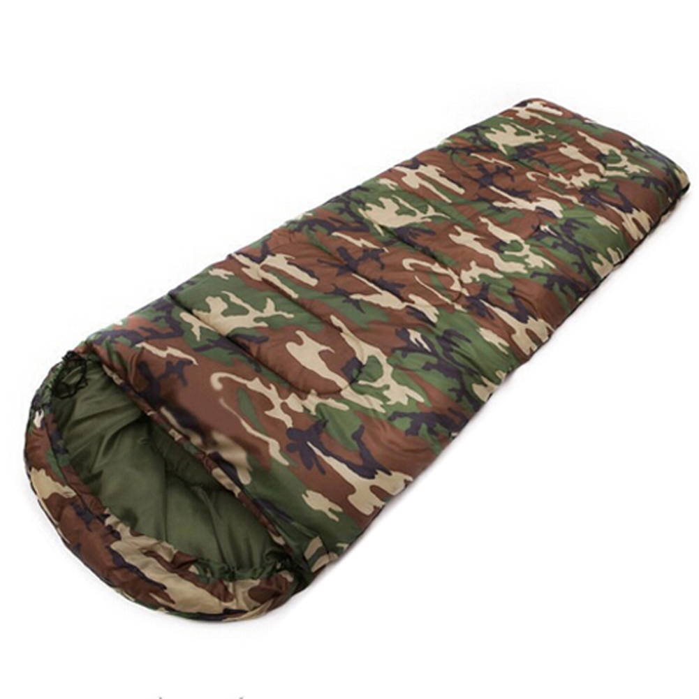 JHO-Cotton Camping saco de dormir 15 ~ 5 grados estilo de sobre camuflaje Multifuntional Outdoor SleepingBag Travel Mantenga caliente LazyBag
