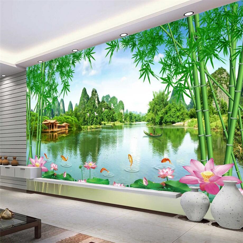 Beibehang Foto Kustom Latar Belakang Wallpaper Yang Indah Pemandangan Pemandangan Yang Bagus TV Latar Belakang Dinding