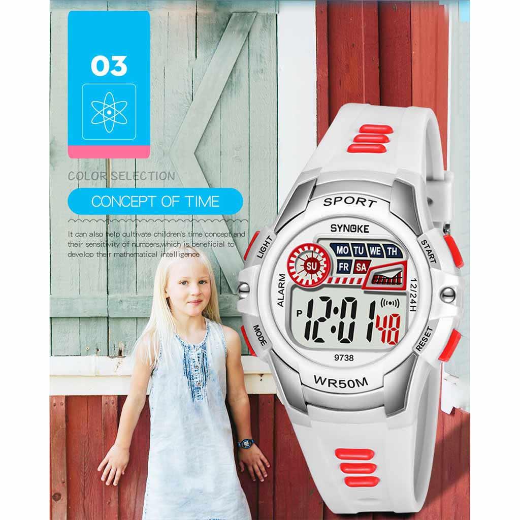 Anak Alarm Bercahaya Tahan Air Multifungsi Mahasiswa Electronicsmart Anak-anak Olahraga Jam Tangan untuk Remaja Tahan Air Hadiah