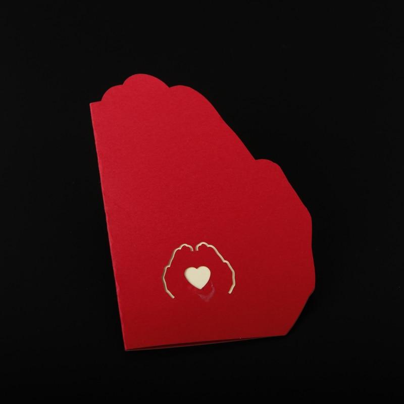 Envío gratis 3D Pop Up tarjeta de felicitación de papel tallado - Para fiestas y celebraciones - foto 5