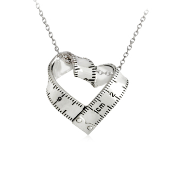 Heart Ruler Necklace Love Measuring Rule1