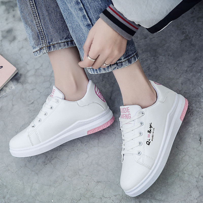 zapatos de mujer women casual butterfly print flat shoes lady cool spring and autumn pink shoes