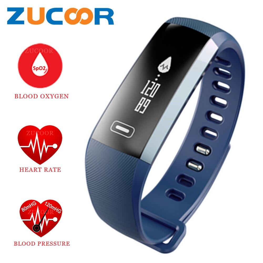 imágenes para Inteligente Pulsera Wrist Band Reloj Del Ritmo Cardíaco Del Monitor de La Presión Arterial de Oxígeno Pulso Pulsera Smartwatch Inteligente Para iOS Android