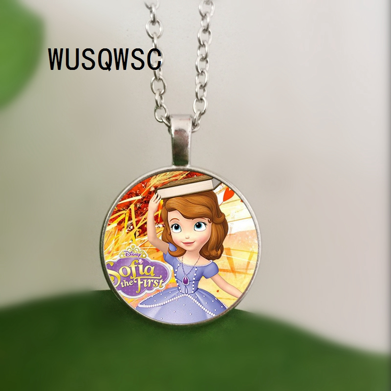 WUSQWSC Новый София Первый Цепочки и ожерелья принцессы Софии кулон красивые принцессы Стекло купол Цепочки и ожерелья s & Jewelry