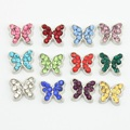 Birthstone Floating Charms Crystal 12 Mix Colors Butterfly Charms Fit Glass Living Memory Locket 120pcs