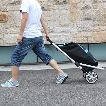 Shirt Shopping Cart Buy Trolley Trolley Folding Trolley Aluminum Alloy Portable Trolley Baggage Trailer