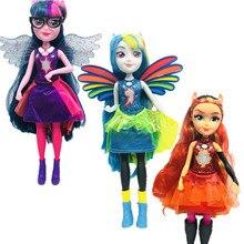 Nowe oryginalne oryginalne potwory wzloty dziewczyny lalki zmierzch sparkle Applejack Rainbow klasyczne zabawki najlepszy prezent dla dziewczyny
