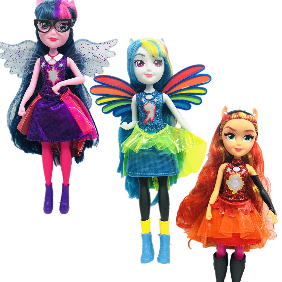 new Original genuine Monsters Highs Girls Dolls Twilight sparkle Applejack Rainbow classic toys Best Gift for Girl цена и фото