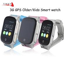 Дешевые Смарт-Сейф 3G WCDMA Дистанционного Камера GPS фунтов WI-FI местоположение трекера SOS Мониторы ребенок старшие дети часы наручные часы 1.54 Сенсорный экран