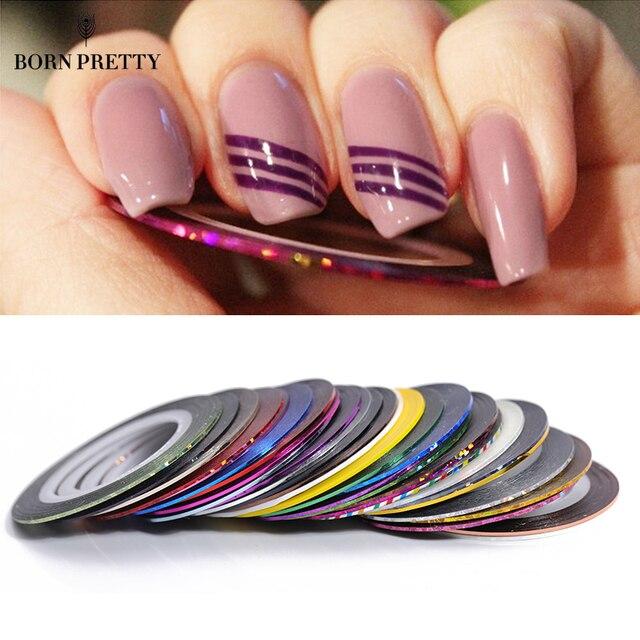 30 шт. полоски для ногтей Набор 0,5 мм линия DIY клей для накладных ногтей Наклейка Маникюр дизайн ногтей украшения набор инструментов для укладки