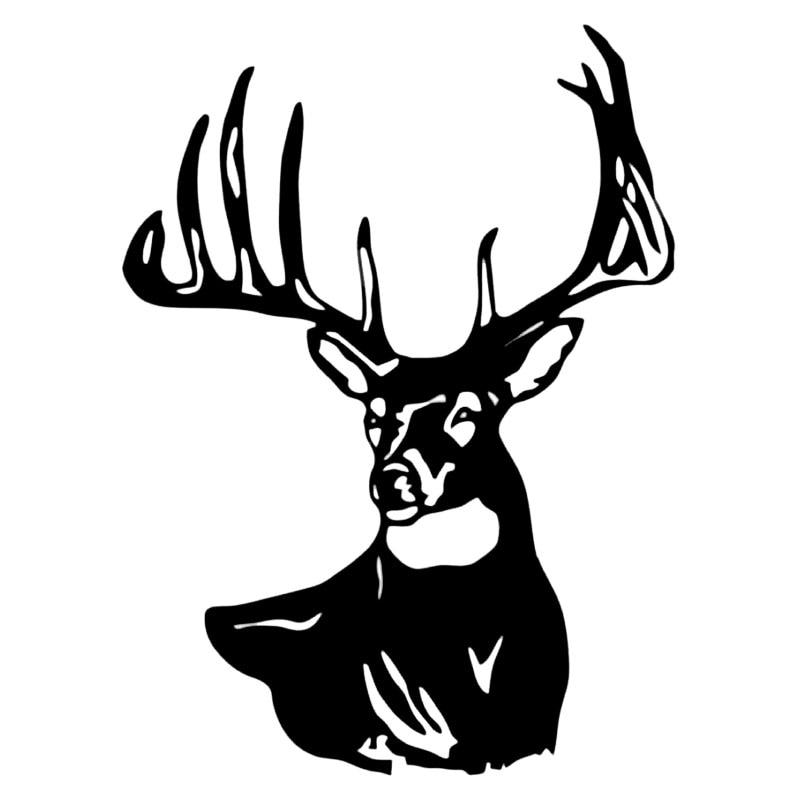 11.2*15.2CM Deer Buck Skull Head Hunting Car Styling Creative Car Sticker Vinyl Decal Black/Silver C9-1812