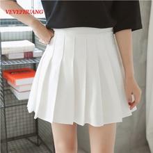 Harajuku Skirts School-Uniform Spring Pleated A-Line Japanese High-Waist Plus-Size Ball