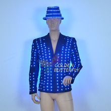 LED Clothing LED full-color light-emitting clothing remote control color SD card programming glow suit jacket