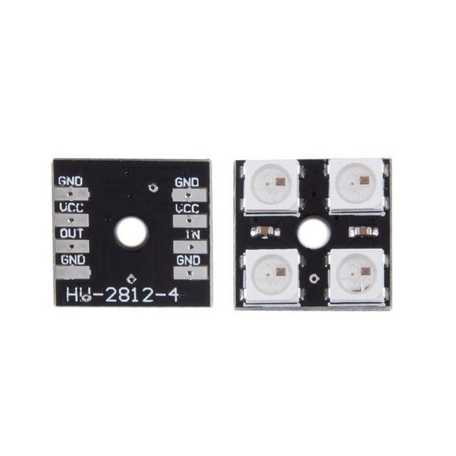 WS2812B 4 5V 5050 RGB LED Lamp Panel Board 4 Bit LED Development Board