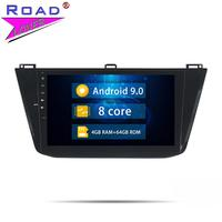 Head Unit Android 9.0 Car Radio DVD Player For Volkswagen VW Tiguan 2016 Stereo GPS Navigation Automagnitol 2 Din Autoradio