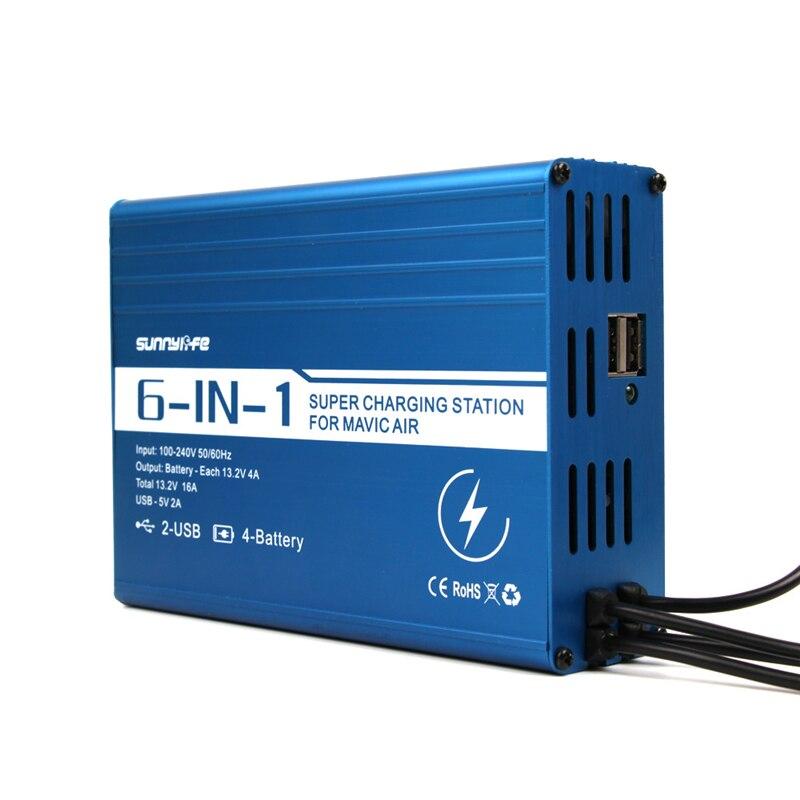 Батарея банк мобильные зарядное устройство мобильный телефон/пульт дистанционного управления/зарядка батареи для DJI mavic air drone аксессуары - 4