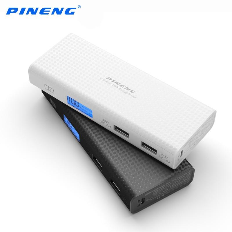 imágenes para Pineng banco de la energía 10000 mah móvil cargador rápido lcd batería externa portátil dual usb powerbank para iphone 6 samsung tablet