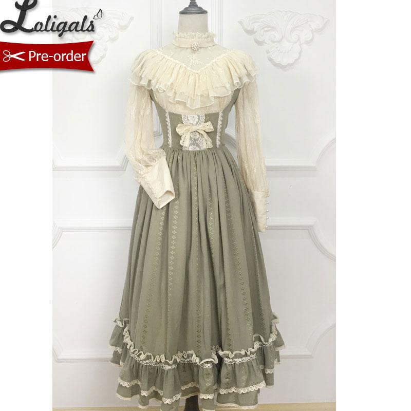 Miss Anne Vintage Style Ruffled JSK Dress Cute Midi Dress by Miss Point Custom tailored