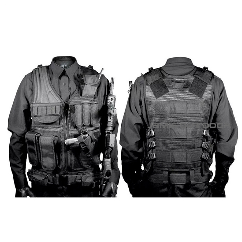 Tactical Police Vest Men Army Military Outdoor Wargame Body Armor Sport Wear Molle Assault Airsoft Paintball