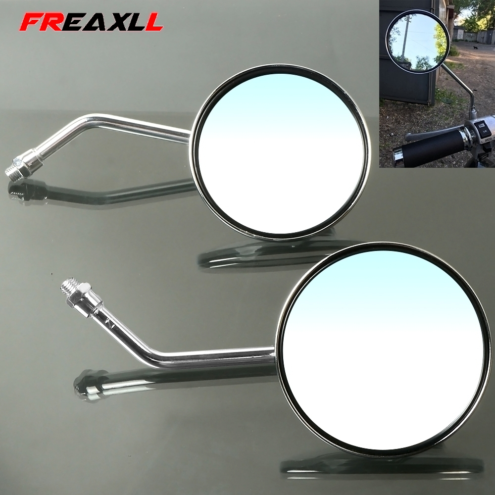 Motorcycle Rearview Mirrors 8 10mm Retro Stainless Steel Side Mirror For VTEC400 CB 1 VTR250 MSX125 CB500 CB600 CB750 CB900 in Side Mirrors Accessories from Automobiles Motorcycles