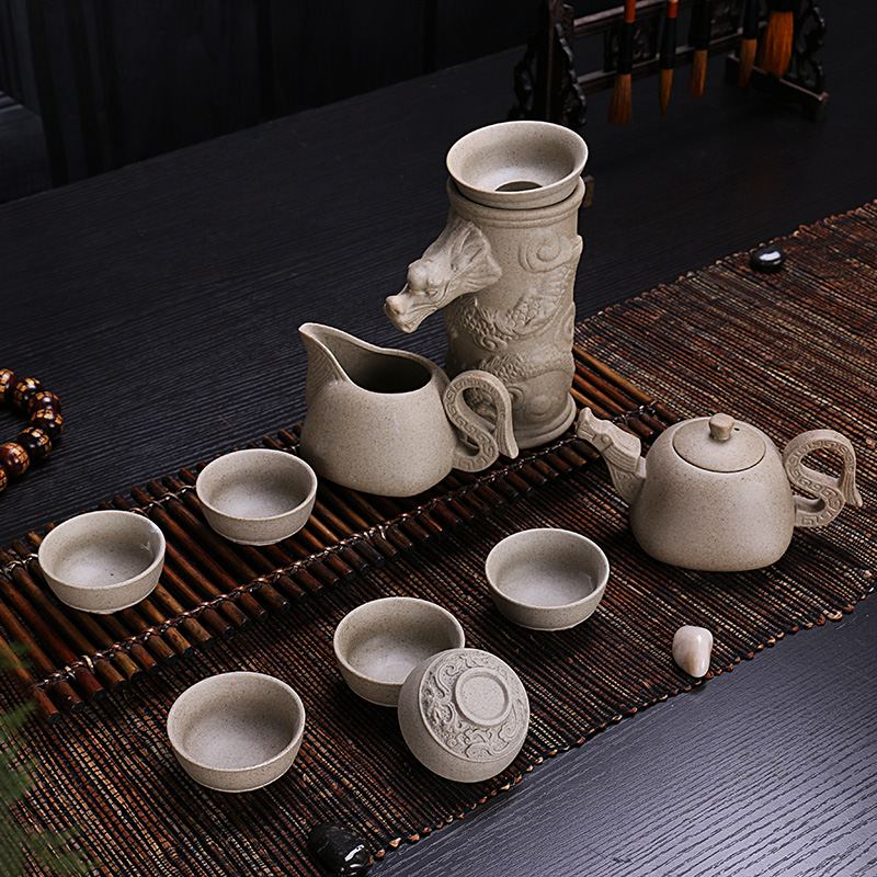 2017 Rough pottery Kung Fu tea set of purple sand ice celadon ceramic teapot cup set gift special offer