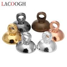 100pcs/Lot Gold Silver Black Color Copper Pearl Pendant Bases Connectors Bail Cap fit 6mm 8mm Beads Women DIY Jewelry Findings цена и фото