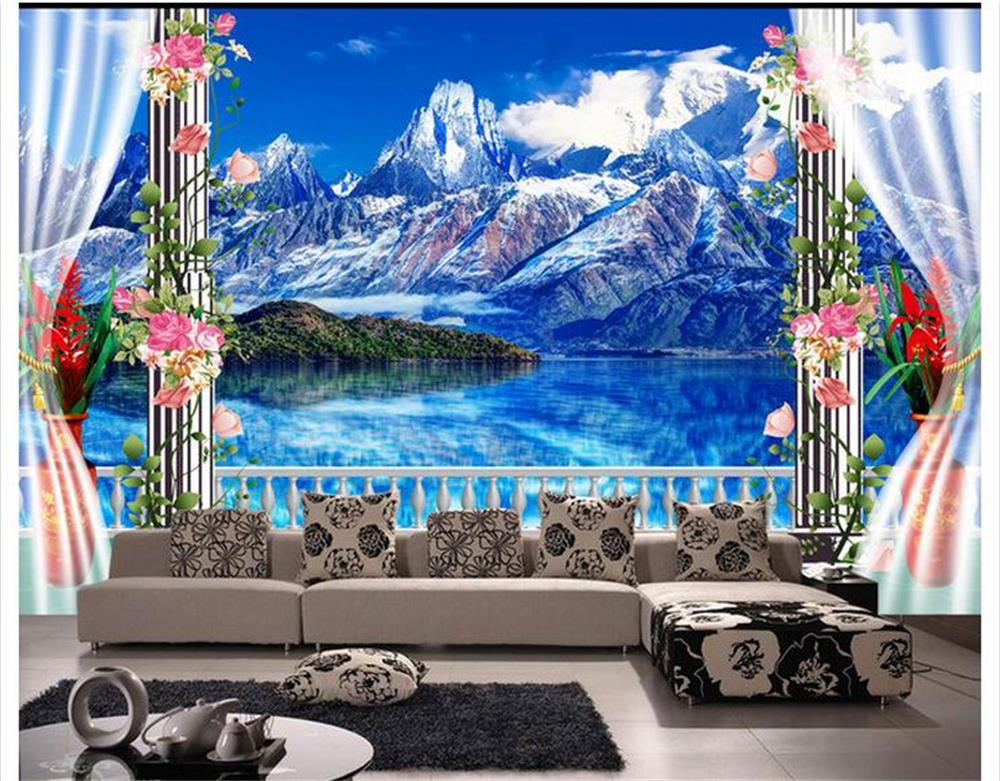 Compare prices on wall scenery wallpaper online shopping for Custom mural cost