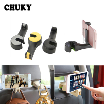 Car Back Seat Headrest Multifunction Hook Auto Holder Mobile Phone Frame for Hyundai Tucson Solaris Mitsubishi Lancer Outlander image