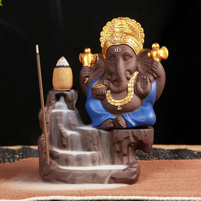 Слон Бог горелка для благовоний с обратным потоком благовония шишки палочка держатель благовоний горелки домашний декор 2019 Новинка 1 шт