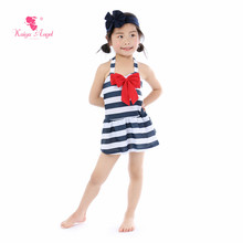 Kaiya Angel 2019 Hot Sale Baby Girl Swimwear Striped Bow Belt Summer Cute Lovely Style Toddles New 5pcs/lot Factory Wholesale