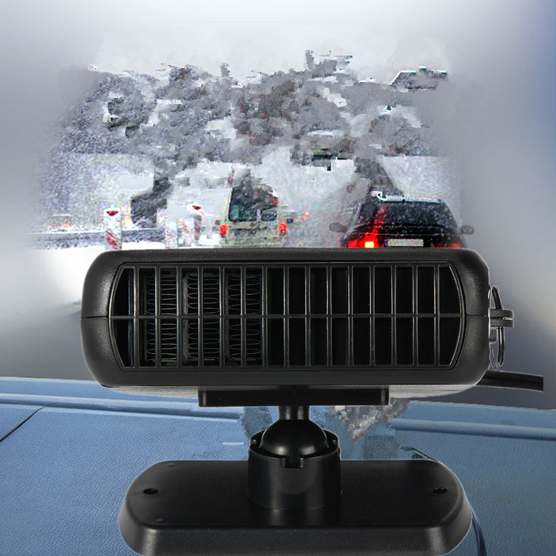 Nuevo ventilador de calefacción del calentador del coche 2 en 1 12 V 150 W secador parabrisas Descongelador para el dispositivo de Control de temperatura portátil del vehículo