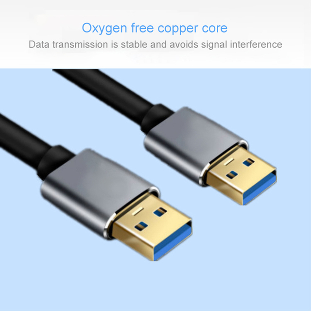 Super Speed USB 3.0 Type A Male to Type A Male Extension Data Sync Cord Cable Blue For Radiator Hard Disk USB3.0 Data Cable