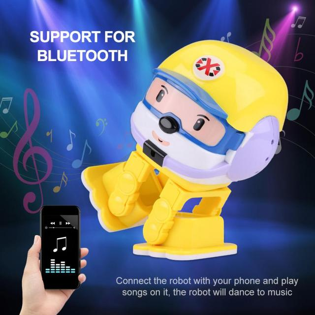 Lovely Infrared RC Robot Early Educational Intelligent Robot Toy With LED Light 2018 Remote Control Toys For Children Kids Gift