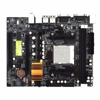 N68 C61 Desktop Computer Motherboard Support for AM2 for AM3 CPU DDR2+DDR3 Memory Mainboard With 4 SATA2 Ports