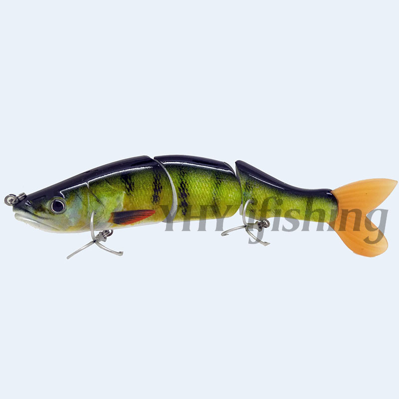 6'' 65Grams Glide Swim bait Floating Multi-jointed Fishing Lure Topwater Tackle Bass Pike Muskie - YHY ifishing store