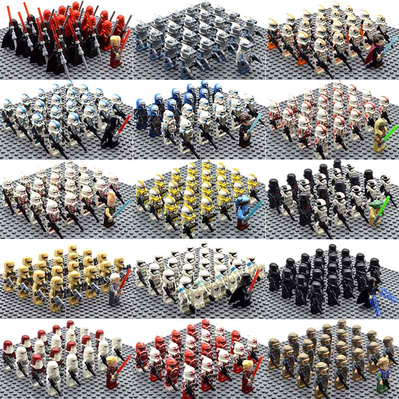 21pcs/set Star Wars Royal Guard Wolf Trooper Shock Trooper 501st Legion Palpatine Building Blocks Bricks Toys For Children