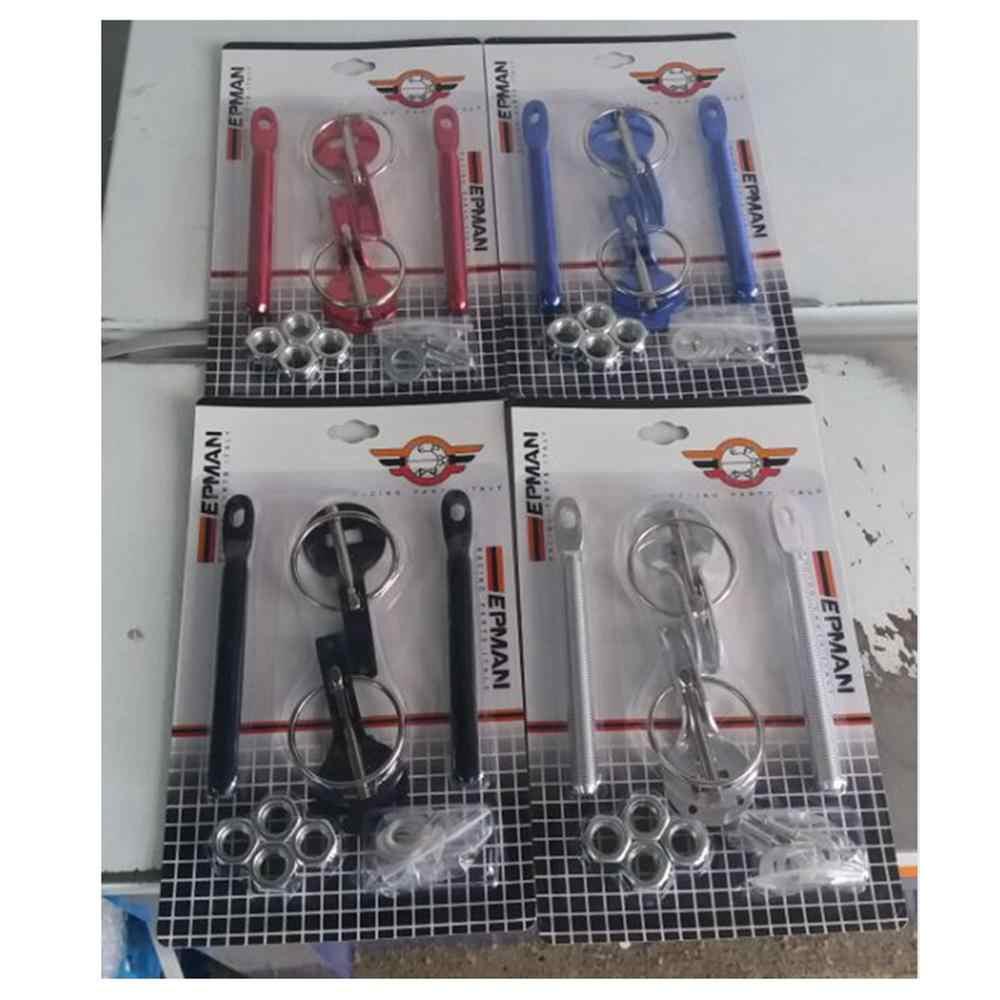 레이싱 블랙 후드 보닛 핀 키트 모든 자동차 용 알루미늄 잠금 스포츠 혼다 용 08-12 Accord 2Dr AF-SP7220A