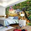 Custom Photo Mural Non-woven Wallpaper 3D Cartoon Grassland Animal Lion Zebra Children Room Bedroom Home Decor Wall Painting 1