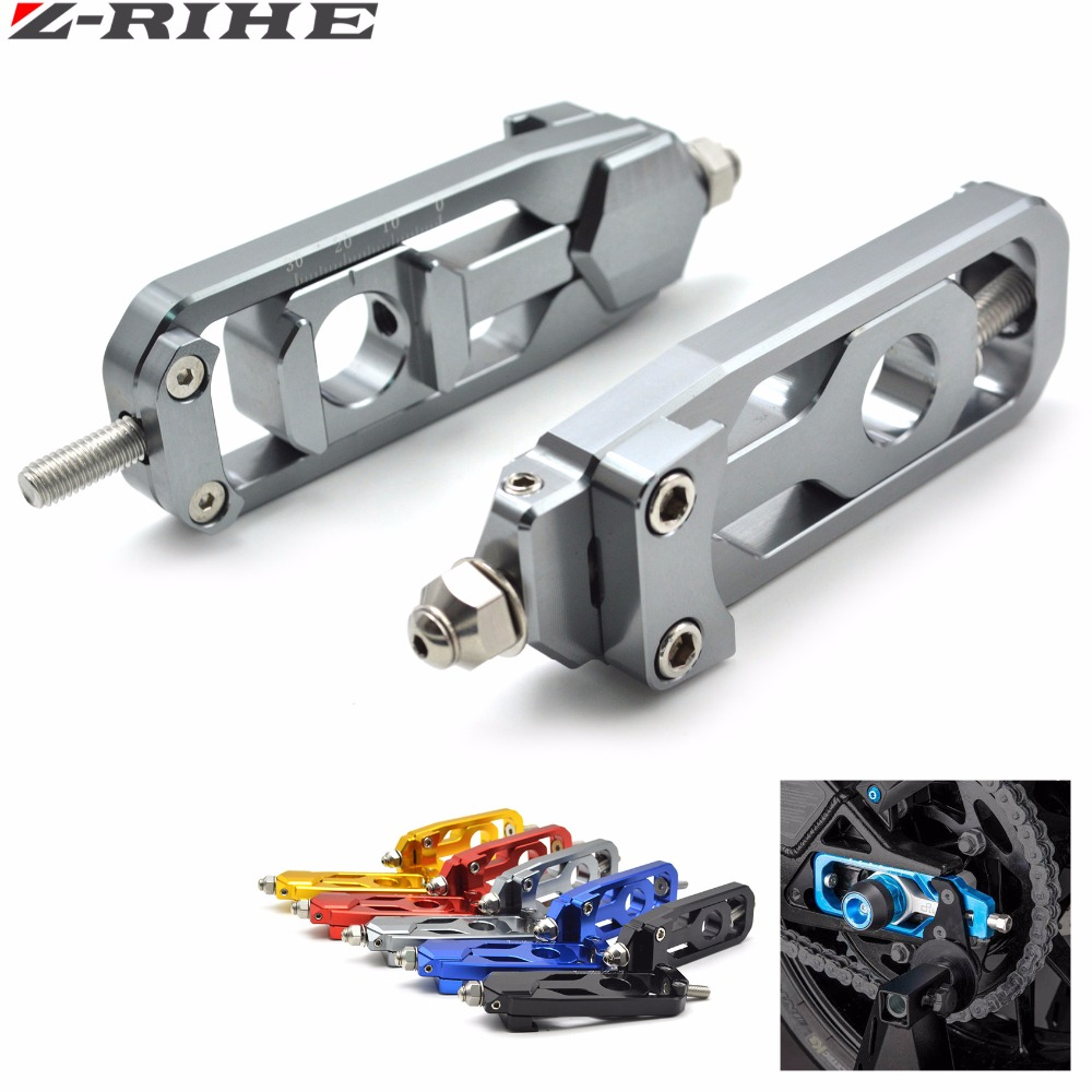 CNC Aluminum Chain Adjusters Tensioners Catena For YAMAHA MT-09 TRACER FZ-09 FJ-09 2014-2015 Black/Blue/Red/Gold/Titanium motorcycle cnc aluminum chain adjusters tensioners catena for yamaha yzf r1 2007 2008 red blue gold gray chain adjusters