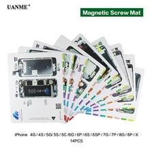 UANME Professional Magnetic Screw Mat For iPhone 4 5 6 6s 7 8 Plus X Pad Keeper Chart Guide Phone Repair Tools