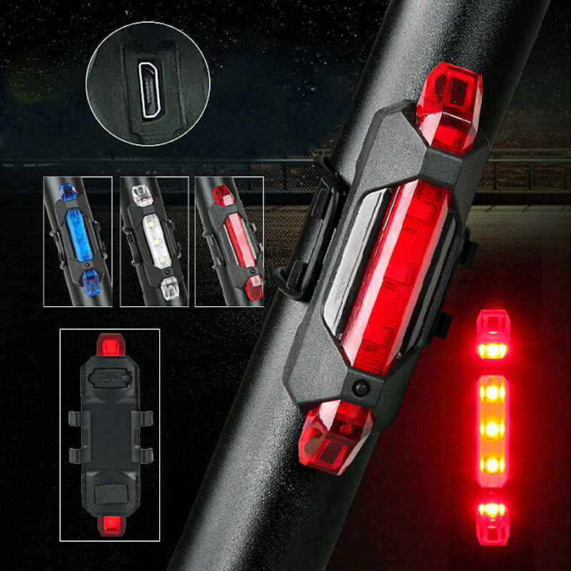Portable USB Rechargeable Bike Bicycle Tail Rear Safety Warning Light Taillight  Lamp Super Bright ALS88 portable usb rechargeable bike bicycle tail rear safety warning light taillight lamp super bright als88