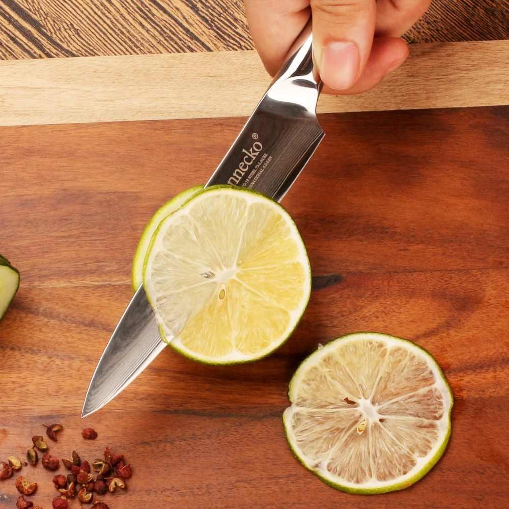 """SUNNECKO 5 """"Damaskus Stahl Utility Messer Japanischen VG10 Core Klinge Küche Messer G10 Griff Kochmesser Gemüse Fleisch Slicer cutter"""