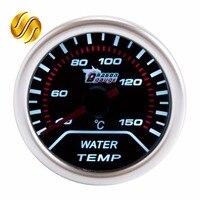 Water Temp Car Gauge 2 52mm 40 150 Celsius Temperature Mechanical Meter Black Dial Face Silver