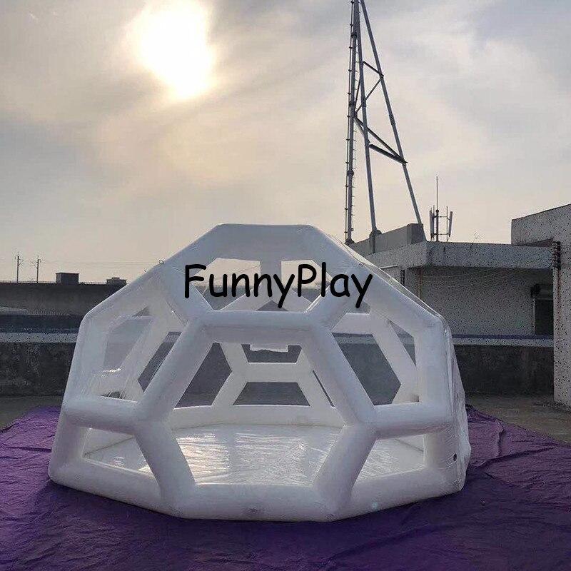 Tente gonflable claire de bulle camping gonflable dôme luna salon commercial voyage plage hôtel maison pvc gonflable tente de yourte