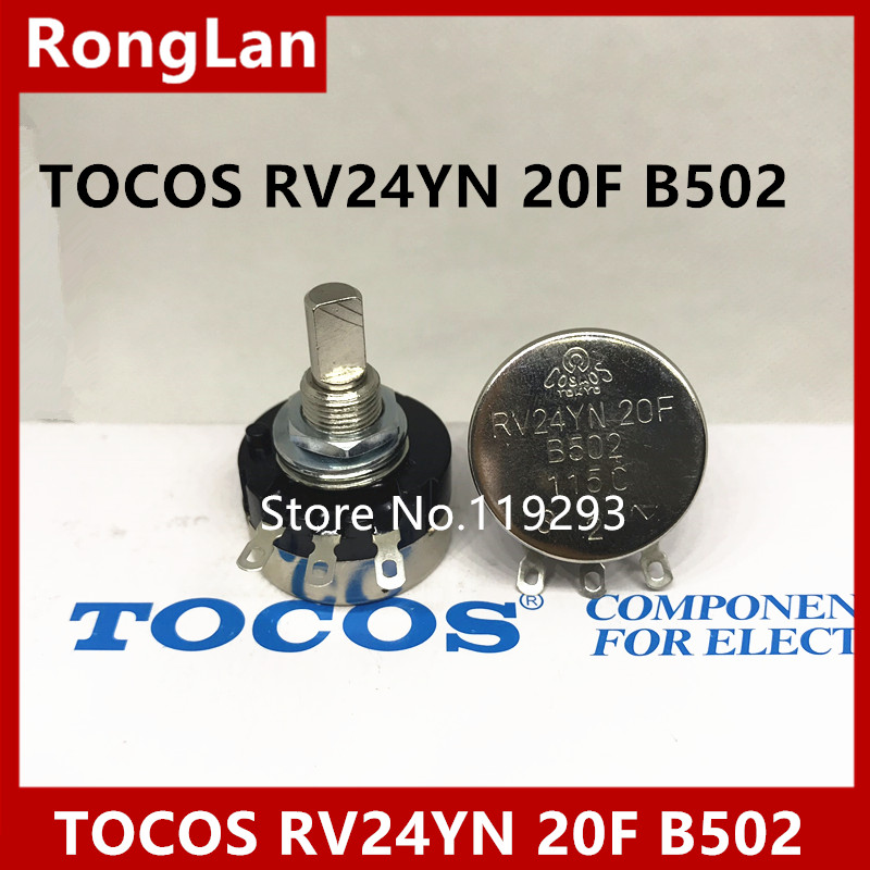 [BELLA]High -quality game potentiometer Japan TOCOS RV24YN 20F B502--10PCS/LOT ...