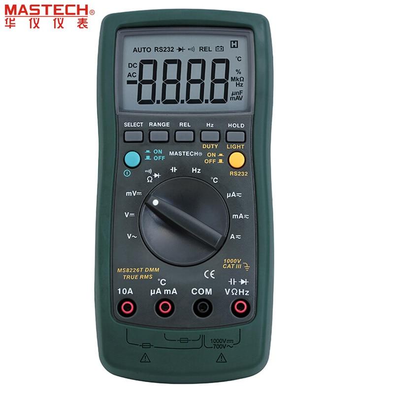 Mastech MS8226 DMM 3 3/4 Digital Multimeter Auto Range Temperature Multimeter Backlight [randomtext category=